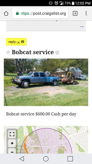 Bobcat service for Sale in Washington, DC