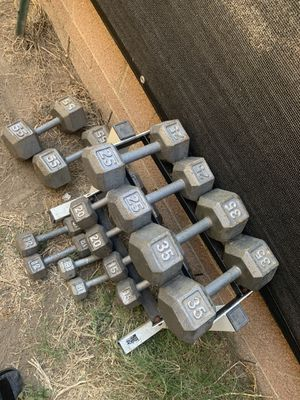 Dumbbell set 5-55lbs for Sale in Montebello, CA
