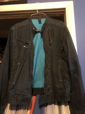 Barcelona Spain blue men's jean jacket. for Sale in Beverly, NJ