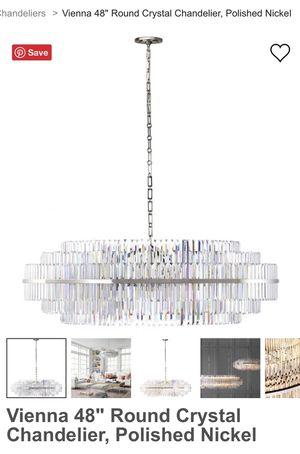 """NIB Vienna 48"""" Round Crystal Chandelier for Sale in Kent, WA"""