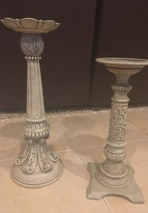 """20"""" & 16"""" tall parti lite candle holders for Sale in Independence, OH"""