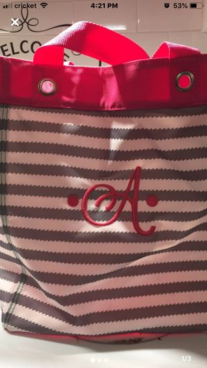 """Thirty-one tote bag monogrammed """"A"""" for Sale in Largo, FL"""