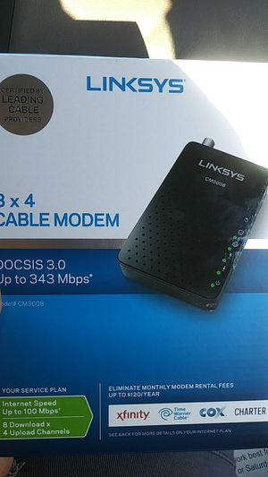 Linksys Cable Modem for Sale in Germantown, MD