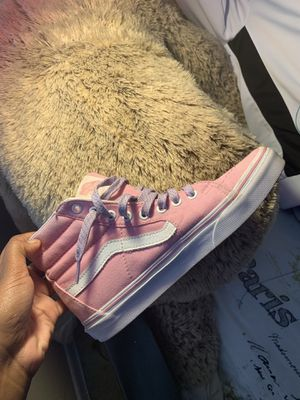 High top pink and white vans for Sale in Margate, FL