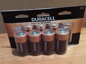 Duracell Coppertop D alkaline batteries, 8 pack for Sale in Chico, CA