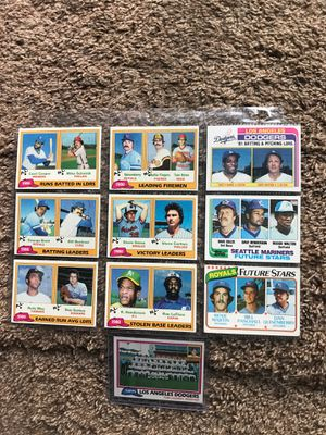 baseball cards in sleeves 10 for Sale in Puyallup, WA