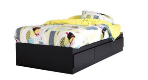 """39"""" 3 drawers twin bed Black color j2- 1118 for Sale in St. Louis, MO"""