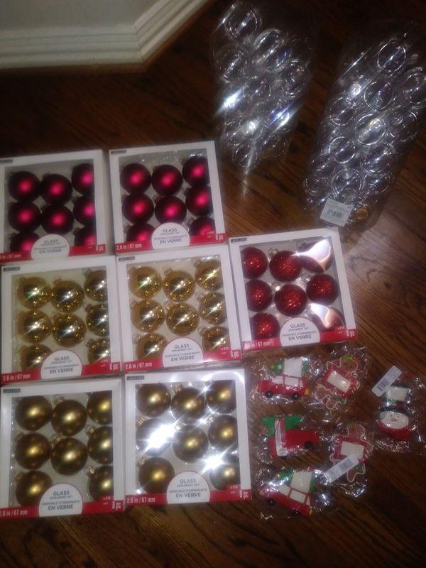 Christmas bulbs and ornaments