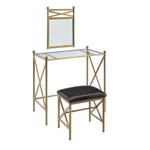 New Beautiful Vanity with Wall Mirror & Stool for Sale in Las Vegas, NV