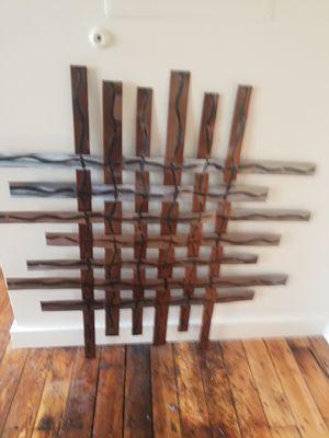 Hanging modern metal wall art stainless steel for Sale in Warwick, RI