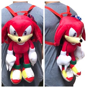 Brand New. Sega Sonic the Hedgehog Knuckles soft toy plush backpack video game cartoon anime characters kid's bag for Sale in Carson, CA