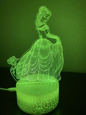 Beautiful princess 3d lamp for Sale in Las Vegas, NV