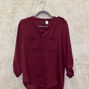 H&M maroon top for Sale in Oklahoma City, OK
