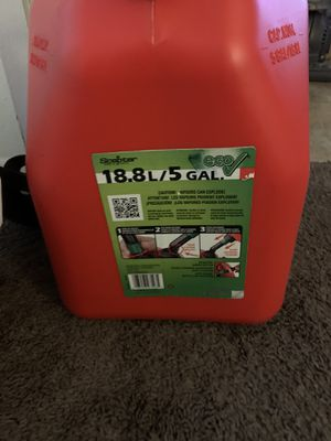 Scepter Eco Gas Can, 5 Gal for Sale in Riverside, CA