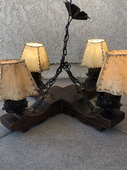 Wood Metal Light Fixture Hand Crafted for Sale in Buena Park,  CA