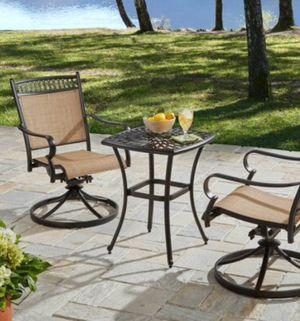 New!! 3 pc bistro patio set, outdoor conversation set, chat set, patio furniture for Sale in Phoenix, AZ