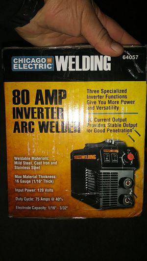 Brand new never been open or used before Chicago 80 amp inverter arc welder for Sale in Las Vegas, NV