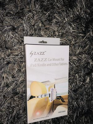 ZAZZ Car Mount for iPad/Kindle and other tablets, (White) for Sale in Detroit, MI