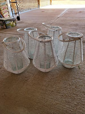 Rattan candle holder for Sale in Fullerton, CA