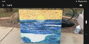 """Ocean Waves and Sun Painting 42x36"""" for Sale in Tempe, AZ"""
