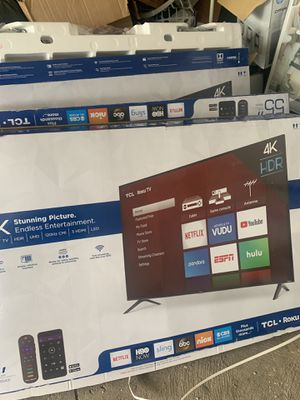 """55"""" tcl , HD 4K , Dolby roko smart tv brand new in the box for Sale in Westerville, OH"""