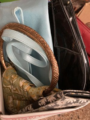 Mystery box of purses a whole priority mail box full! for Sale in Portland, OR