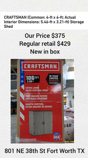 Craftsman Shed for Sale in Fort Worth, TX