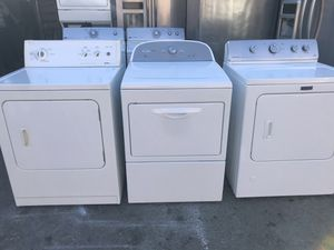 Vertex appliances. Used, huge, nice, new looking model dryers, gas or electric , great condition, heavy duty, super capacity plus for Sale in San Jose, CA