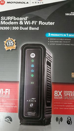 Very cheap MODEM+ WiFi Router Motorola Arris Model SBG6580 for Sale in Plano, TX