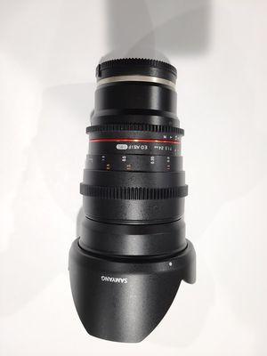Samyang/Rokinon 24mm T1.5 cinema lens Sony E-Mount for Sale in Santa Clarita, CA