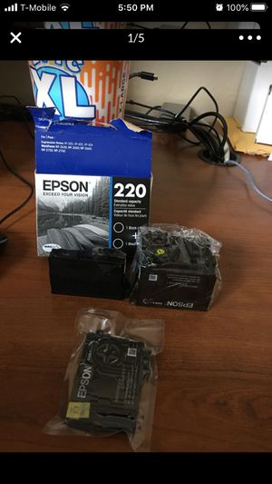 Epson 220 Ink Opened Color and fully sealed black for Sale in Mesa, AZ