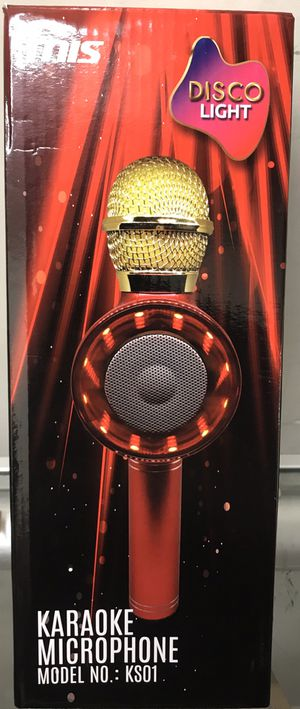 Karaoke Microphone With light Portable Bluetooth Speaker And Records Rechargeable for Sale in Los Angeles, CA
