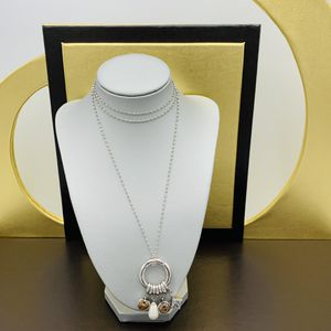 Sterling Silver 925 Womens LONG Necklace Double Sided Charm for Sale in New York, NY