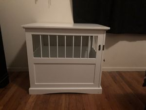 Brand New White wood dog bed. For smaller breed. Perfect for a bed and potty pad and crate training . Has latch to close door. $125 or best offer for Sale in Clinton Township, MI