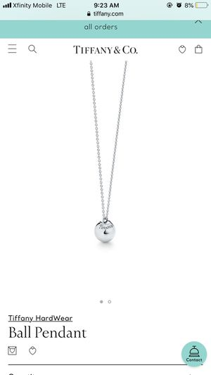 Sterling Silver Tiffany necklace Ball Pendant for Sale in Pittsburgh, PA