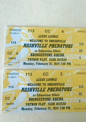 Preds Section 113 LEXUS LOUNGE Feb. 25th for Sale in Nashville, TN