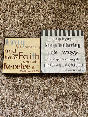 Inspirational quotes wooden decor signs wall art desk motivational words home decoration for Sale in Mesa, AZ