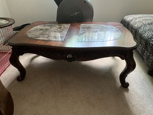 Marble coffee table with matching end tables for Sale in Chicago, IL