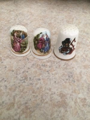 Bone China thimbles $10 A PIECE or $25 for all 3 for Sale in Tacoma, WA