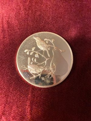 """Silver Bird Coin. 2.3 oz - 66g weight. Stamped. 2"""" across. for Sale in Arbutus, MD"""