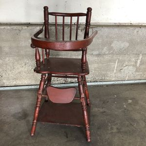 Kids girls doll's wooden high chair for Sale in Whittier, CA