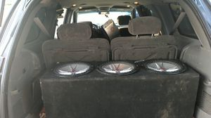 KICKER CVR 12's 3 of these monsters in iso cubes and one enclosure for Sale in Rancho Cucamonga, CA