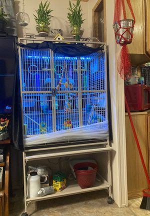 Parrot or Bird Cage with gum on top for Sale in Browns Mills, NJ