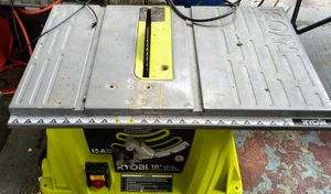 RYOBI 10INCH,15AMP TABLE SAW for Sale in Portland, OR