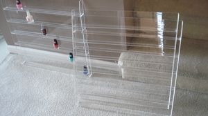Set of 5 Hanging Nail Polish Display Cases For Nail Spa for Sale in Columbia, MO