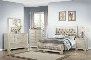 WE ARE OPEN! BEAUTIFUL NEW JASMINE QUEEN BED, DRESSER, MIRROR AND NIGHT STAND SET ON SALE ONLY $599. KING SET $699. IN STOCK, SAME DAY DELIVERY! for Sale in Tampa, FL