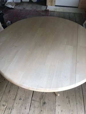 Whitewashed wood dinette table for Sale in Kennebunkport, ME