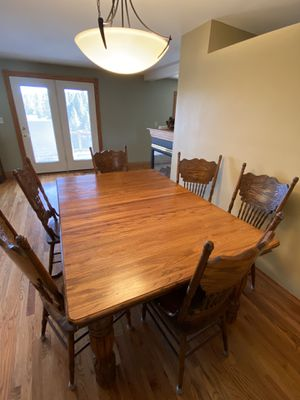 Solid Oak table and chairs for Sale in OR, US