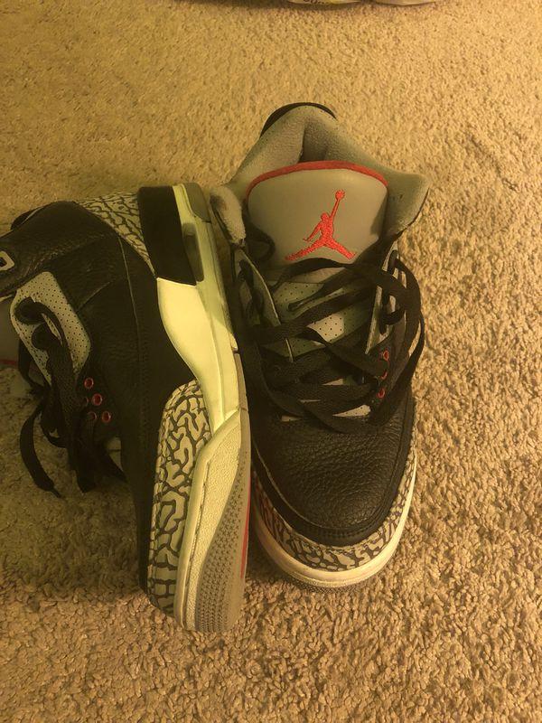 Jordan 3 black cement size 8