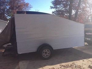 7X14 - 3 sides enclosed trailer, with slide in ramps, pulls great. for Sale in Brainerd, MN